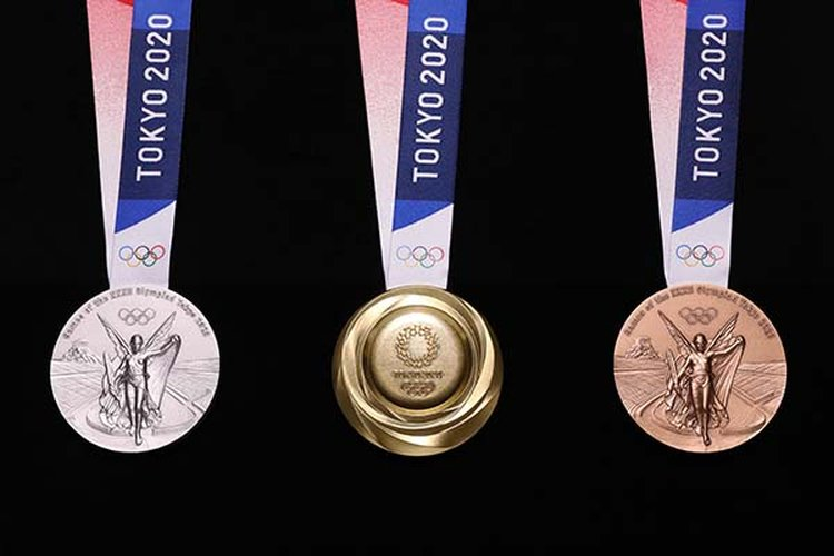 See the 2020 Tokyo Olympic Medals Created From Recycled Mobile Phones