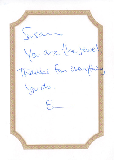 Thank You Card Susan Eisen